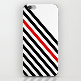 80s stripes iPhone Skin