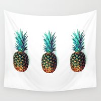 soldier Wall Tapestries featuring tri soldier pineapples by Yilan