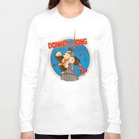 donkey kong Long Sleeve T-shirts featuring Donkey King Kong by Vickn