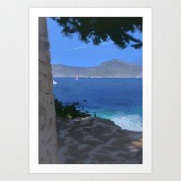 Saint Jean Cap Ferrat Art Print