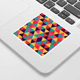 Colorful Triangles (Bright Colors) Sticker