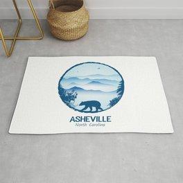 Asheville Blue Ridge Mtns - AVL 1 White Rug