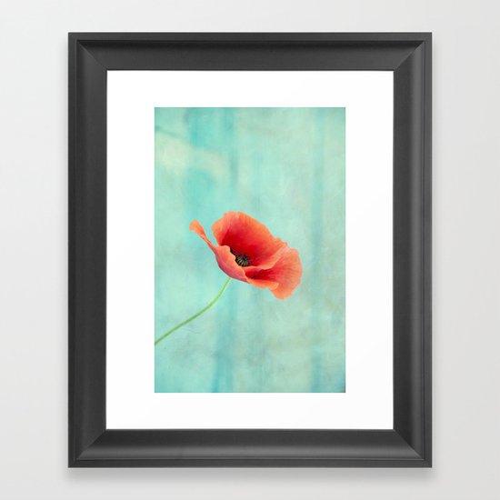 pavot I Framed Art Print