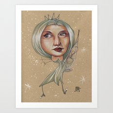 SNOWFLAKE QUEEN Art Print