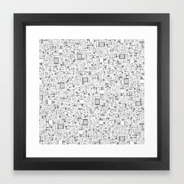 All Tech Line / Highly detailed computer circuit board pattern Framed Art Print