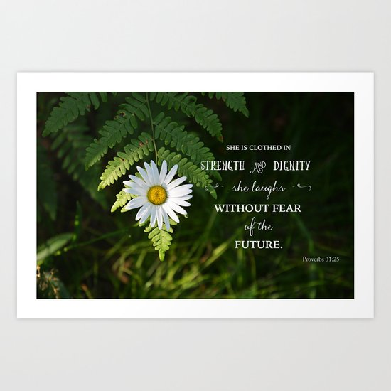 Clothed with Strength Art Print