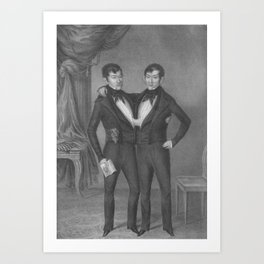Chang and Eng Bunker - Siamese Twins Portrait Art Print