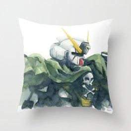 Crossbones - Mobile Suit Gundam Watercolor Throw Pillow