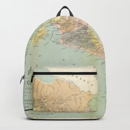 Vintage Map of Costa Rica (1889) Backpack