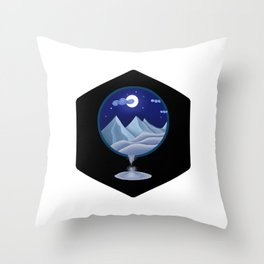 Silver Desert Throw Pillow