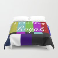 lorde Duvet Covers featuring And We'll Never Be Royals by Dr.RPF