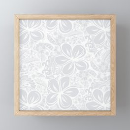 Maui Polynesian Silver Wedding Framed Mini Art Print