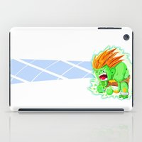 street fighter iPad Cases featuring STREET FIGHTER - BLANCA by mirojunior