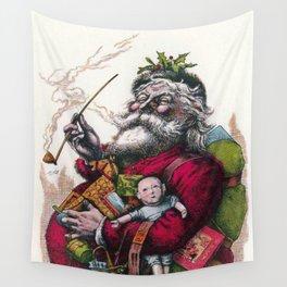 Victorian Santa Claus - Thomas Nast Wall Tapestry