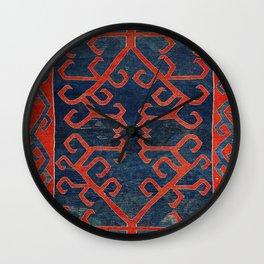 Avar Daghestan Northeast Caucasus Kilim Print Wall Clock