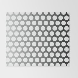 Dots - White Throw Blanket