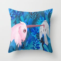 Accident in the enchanted forest Throw Pillow
