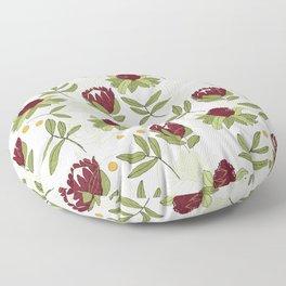 Waratah and Eucalyptus Floor Pillow
