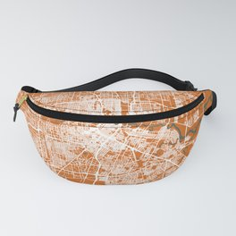 HOUSTON Map Texas   Orange   More Colors, Review My Collections Fanny Pack