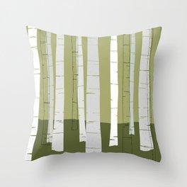 Quiet Birches Throw Pillow