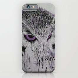 Violet Owl iPhone Case