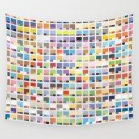 pantone Wall Tapestries featuring Complete Poke-Pantone  by Zeke Tucker