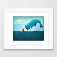 whale Framed Art Prints featuring Whale by mark ashkenazi