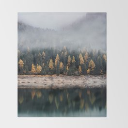 Into the Pines Throw Blanket