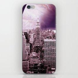 New New York : Galaxy City Dark Mauve iPhone Skin