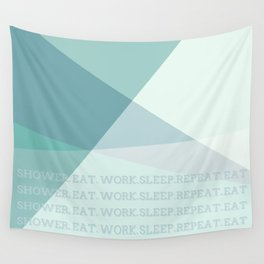 Green Geometric Artwork  Wall Tapestry