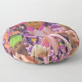 Retro Romance  Floor Pillow