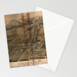 Aerial View of Cobleskill, New York (1883) Stationery Cards
