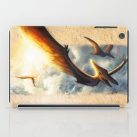 neil gaiman iPad Cases featuring Pterodactyl Coming back to Life by Neil Price by Neil Price