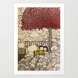 swept away & stranded Art Print
