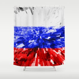 Extruded Flag of Russia Shower Curtain