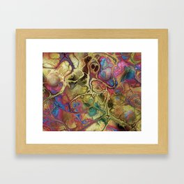Fractals at the Cellular Level I  Framed Art Print