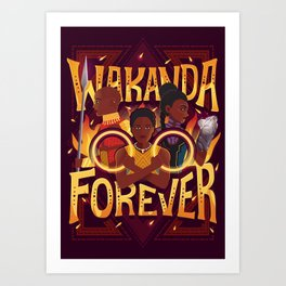Women of Wakanda Art Print