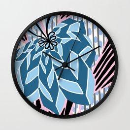 BAYAMO: BOLERO BLUES, Art Deco Tropical Wall Clock