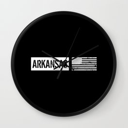 U.S. Flag: Arkansas Wall Clock