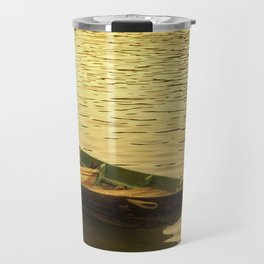Vietnamese Boat at Sunset Travel Mug