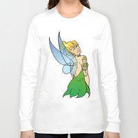 tinker bell Long Sleeve T-shirts featuring Tinker Bell by NOBODY's Art