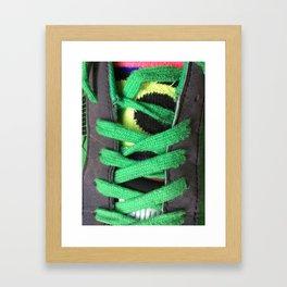 Green shoe laces Framed Art Print