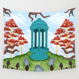 Colorful Graveyard Wall Tapestry