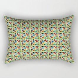 Bettas × 100_Green Base Rectangular Pillow