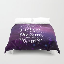ACOMAF- To the Stars Who Listen And the Dreams that are Answered Duvet Cover