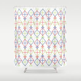 Abstract Line Pattern 3 _KITES Shower Curtain