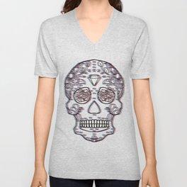 Sugar Skull Mania Unisex V-Neck
