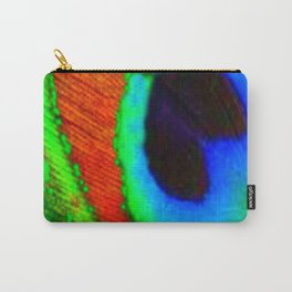 BLUE & GREEN PEACOCK EYE FEATHER ART Carry-All Pouch