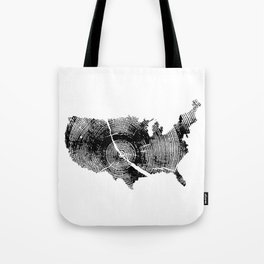United States Print, Tree rings, Tree stump, Wood grain, Tree ring art Tote Bag