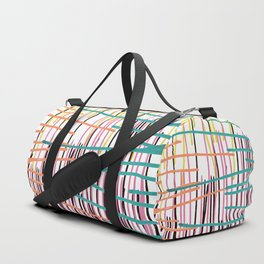 Abstract colorful watercolor paint drips pattern Duffle Bag